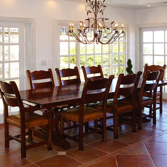 Mesquite Trestle Style With Circa High Back Chairs